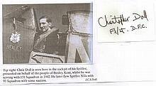 Flight Lieutenant John C.S. Doll DFC. Signature of RAF fighter ace Flight