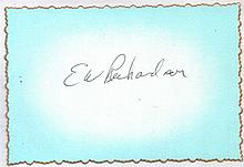 Captain Elmer Richardson. Signature of WWII USAF fighter ace Captain Elmer