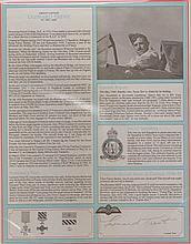 Group Captain Leonard Trent VC RAF Bomber Command profile.  Signature of N