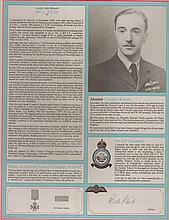 Bill Reid VC RAF Bomber Command profile.  Signature of Flight Lieutenant W