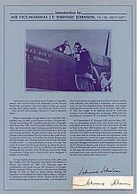 Air Vice Marshal James Edgar 'Johnnie' Johnson CB CBE DSO** DFC* RAF Signa