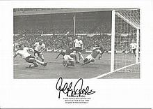 Wolfgang Weber signed 1966 World Cup Final Goal 8x12 Photo.Good condition.