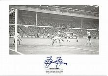 Helmut Haller signed 1966 World Cup Final Goal 8x12 Photo.Good condition.