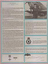Wing Commander Andy Mackenzie DFC Signature on Canadian Fighter Ace profil