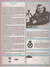 Flight Lieutenant Jackie Rae DFC Signature on Canadian Fighter Ace profile