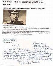Major General Anthony Deane-Drummond DSO MC* Voted No3 in the Daily Telegr
