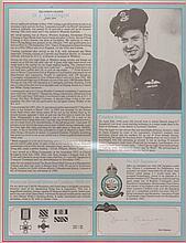 Squadron Leader David Shannon DSO* DFC* RAF Bomber Command profile. Signa