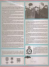 Group Captain James B. 'Willie' Tait DSO RAF Bomber Command profile.  Sign