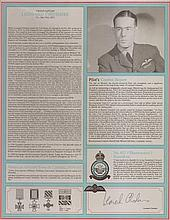 Leonard Cheshire VC RAF Bomber Command profile.  Signature of one of the g