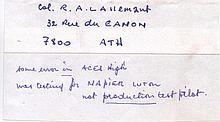 Squadron Leader Raymond A. Lallemant DFC (Bar)