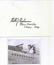 Captain Walter J. Goehausen Jr USAF Signature on