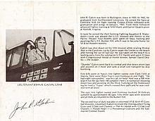 Lieutenant John R. Galvin USN Signature on pilot