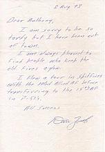 Captain Daniel J. Zoerb USAF. Handwritten letter