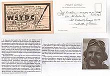 Colonel Jefferson Deblanc USMC. Signature on card.