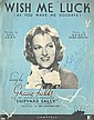 Gracie Fields Scarce 24cm x 31cm sheet music for