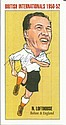 Nat Lofthouse signed amusing caricature 6 x 4