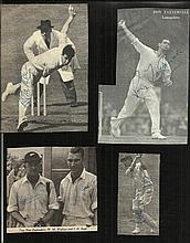 Cricket collection of 4 vintage newspaper photos