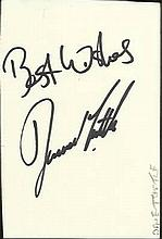 Football signed cards 10 inc David Tuttle, J