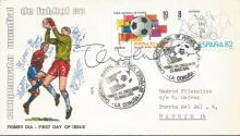 Terry Venables autographed cover. 1982 Spain World