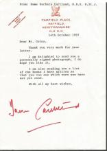 Barbara Cartland Typed Letter signed with Booklet.