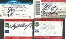 Lot of 18 Football Tickets signed inc. Chris Colem