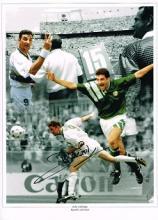 John Aldridge autographed football photo. High qua
