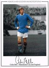 Colin Bell autographed football photo. High qualit