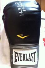 EVANDER HOLYFIELD: 16oz Everlast boxing glove sign
