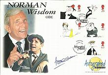 Norman Wisdom signed 1998 Comedians Official
