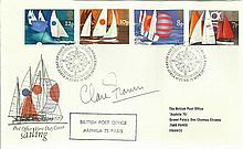 Claire Francis signed 1975 Sailing FDC British