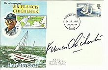 Francis Chichester signed 1967 Francis Chichester