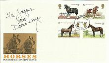 Doris Day signed 1978 Horses FDC London FDI