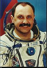 Cosmonaut signed Colour 6x4 space suit portrait