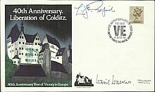 Colditz, POW Camps signed covers, six inc 40th ann