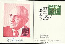WW2 Rocket Scientist Lovely 1964 German postcard