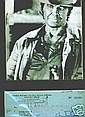 Charles Bronson Signed Cheque + Cowboy Pic