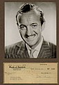 David Niven 1949 Signed Cheque. Matted Photo and