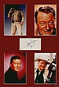John Wayne Super 1974 Signed Paper Piece and 4
