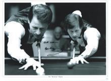 Alex Higgins autographed high quality 16x12 inch s