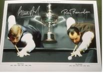 Steve Davis and Ray Reardon autographed high quali
