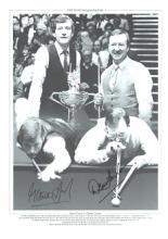 Dennis Taylor and Steve Davis autographed high qua