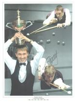 Stephen Hendry autographed high quality 16x12 inch