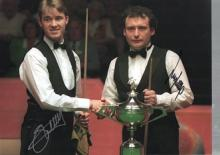 Stephen Hendry and Jimmy White autographed high qu