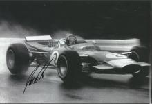 Jackie Oliver F1 racing driver signed b/w 12x8 pho