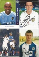 Football 8 Signed 4x6 Photos Trevor Sinclair, Gary