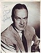 Bob Hope signed 10 x 8 b/w vintage portrait photo
