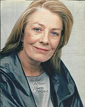 Vanessa Redgrave signed 10 x 8 colour magazine