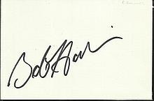 Bob Hoskins signed large autograph on white 6 x 4