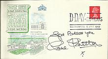 Ann Shelton signed 1969 D-Day 25th Ann GB FDC with