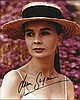 Jean Simmons signed lovely 10 x 8 colour portrait